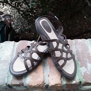 boc Brown Faux Leather Sandals, NWOB